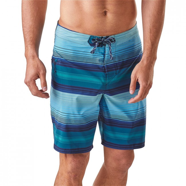1c05152d54 Patagonia M's Stretch Planing Board Shorts 20 in. Blanket Stripe: Big Sur  Blue-