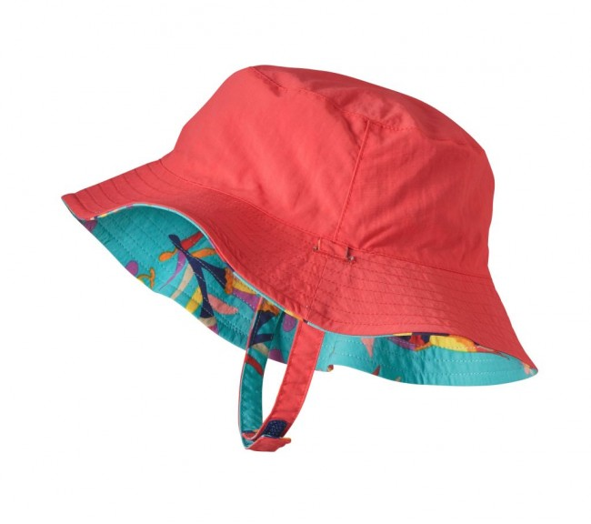 fe9123405 Patagonia Baby Sun Bucket Hat Folk Tails: Howling Turquoise - en