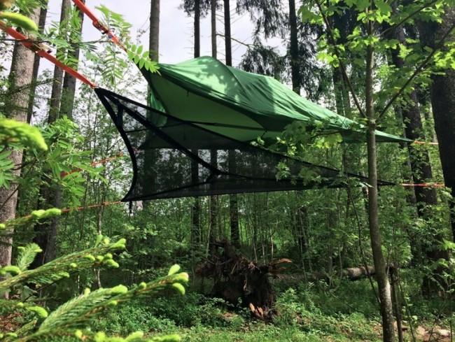 Trillium Camping Hammock: Green Fabric