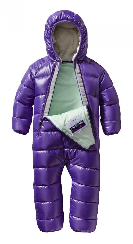 Patagonia Baby Hi Loft Down Sweater Bunting Violetti En