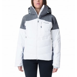 Columbia Powder Keg II Down Jacket White, Cirrus Grey-20