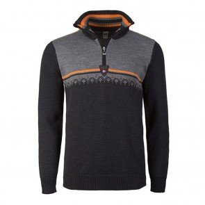 Dale of Norway Lahti masculine sweater XL Dark Charcoal / Orange Peel / Smoke-20