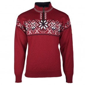 Dale of Norway Geiranger Masc Sweater red rose / off white / navy/ smoke-20