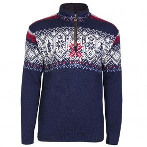 Dale of Norway Norge Masc Sweater light navy / smoke /off white / blue shadow/ raspberry/ light charcoal-20