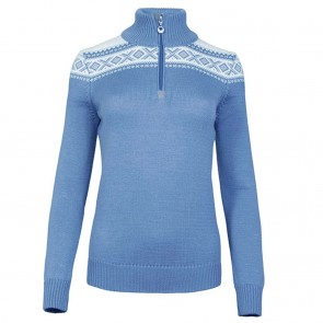 Dale of Norway Cortina Merino Fem Sweater Blue shadow / off white-20