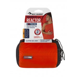 Sea To Summit Reactor Extreme Long Thermolite® Mummy Liner Orange Sack / Red Liner-20