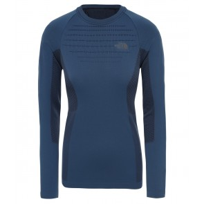 The North Face Women's Sport Long-Sleeve Top BLUE WING TEAL/TNF BLACK-20