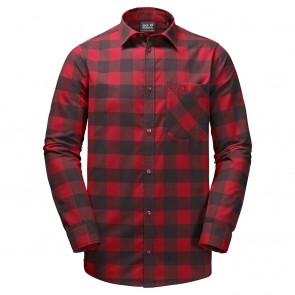 Jack Wolfskin Red River Shirt red lacquer checks-20