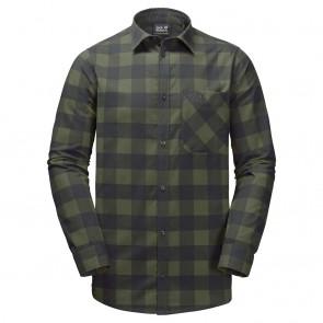 Jack Wolfskin Red River Shirt woodland green checks-20