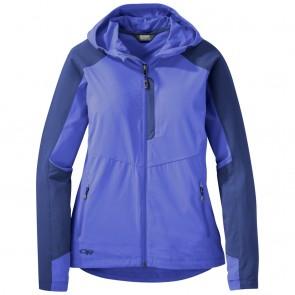 Outdoor Research Women's Ferrosi Hooded Jacket batik/baltic-20