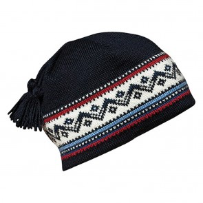 Dale of Norway Vail Hat Midnight / navy / Red rose / off white / indigo / china blue-20