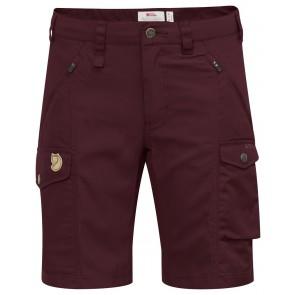 FjallRaven Nikka Shorts Curved W Dark Garnet-20