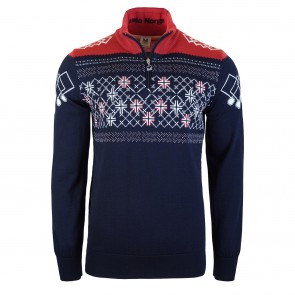 Dale of Norway Podium Masculine Sweater S Navy / Raspberry / Off white-20