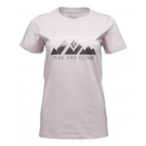 Black Diamond W Ss Rise And Climb Tee Wisteria-20