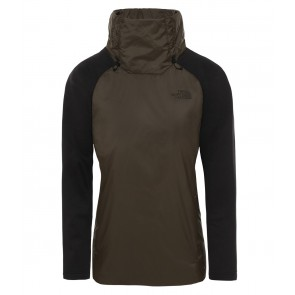 The North Face Women's Synthetic Insulated Hybrid Pullover NEW TAUPE GREEN/TNF BLACK-20