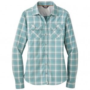 Outdoor Research OR Women's Passage L/S Shirt seaglass plaid-20