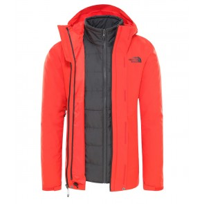 The North Face Men's Carto Zip-In Triclimate Jacket FIERY RED/ASPHALT GREY-20