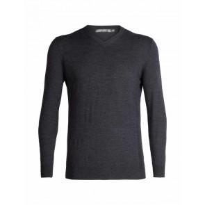 Icebreaker Mens Shearer V Sweater CHAR HTHR-20