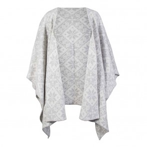 Dale of Norway Rose Shawl Light charcoal / Off white-20