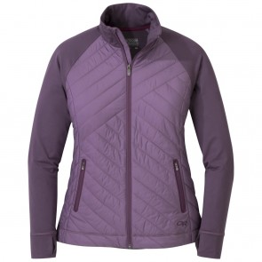 Outdoor Research Women's Melody Hybrid Full Zip pacific plum-20