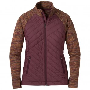 Outdoor Research Women's Melody Hybrid Full Zip garnet multi-20