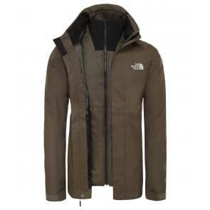 The North Face Men's Kabru Zip-In Triclimate Jacket NEW TAUPE GREEN-20