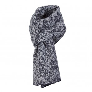 Dale of Norway Rose scarf Navy / Light charcoal-20