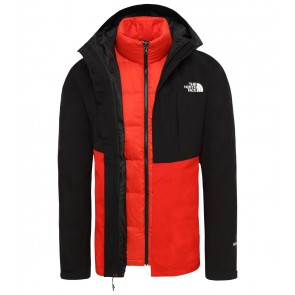 The North Face Men's Mountain Light GORE-TEX Zip-In Triclimate Jacket TNF BLACK/FIERY RED-20