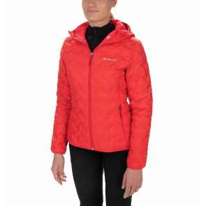 Columbia Delta Ridge Down Hooded Jacket Red Lily-20