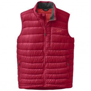 Outdoor Research OR Men's Transcendent Down Vest agate/hot sauce-20