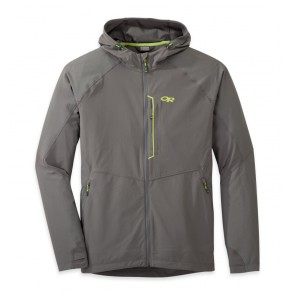 Outdoor Research OR Men's Ferrosi Hooded Jacket pewter/lemongrass-20