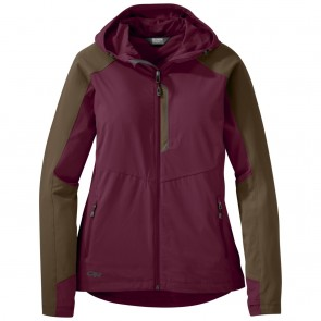Outdoor Research Women's Ferrosi Hooded Jacket garnet/carob-20