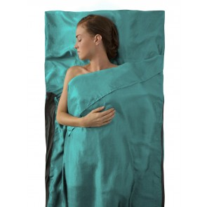 Sea To Summit Silk Stretch Liner Traveller (with Pillow slip) Sea Foam-20