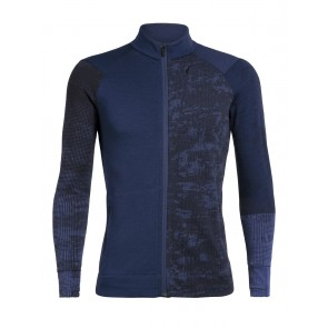 Icebreaker Mens Away II LS Zip ESTATE BLUE/Lapis-20