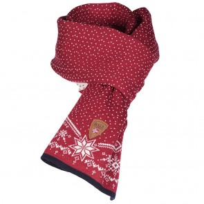 Dale of Norway Dale Christmas Scarf Raspberry/ Off white/ Navy-20