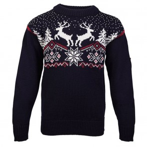 Dale of Norway Dale Christmas Kids Sweater Navy / Red rose / Off white-20
