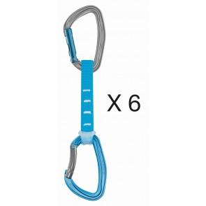 Petzl 6Er Pack Djinn Axess Expresss 12 Blau Blue-20