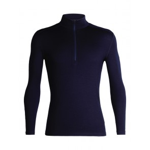 Icebreaker Mens 260 Tech LS Half Zip Midnight Navy-20