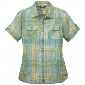Outdoor Research OR Women's Melio S/S Shirt seaglass large plaid-20