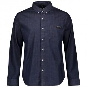 Scott Shirt M's 10 Casual l/sl denim blue-20