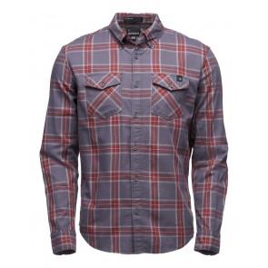 Black Diamond M Ls Benchmark Shirt Anthracite-Red Oxide-oy-20