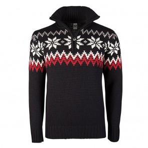 Dale of Norway Myking Masc Sweater L Black / Raspberry / Off white-20
