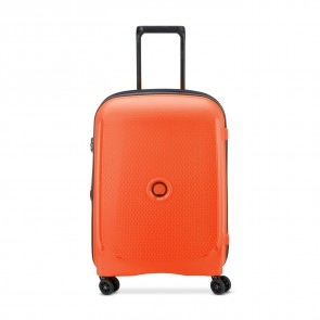 Delsey Belmont Plus 4 Double Wheels Slim Cabin Trolley 55 CM Orange-20