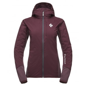 Black Diamond W First Light Hybrid Hoody Bordeaux-20