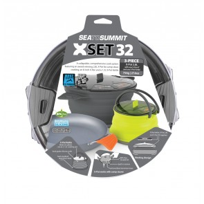 "Sea To Summit X-Set: 32 3pc (X-Pot 2.8L, X-Pan 8"", X-Pot Kettle 1.3L)-20"