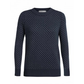 Icebreaker Wmns Waypoint Crewe Sweater Midnight Navy-20
