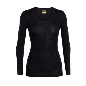 Icebreaker Wmns 175 Everyday LS Scoop Black-20