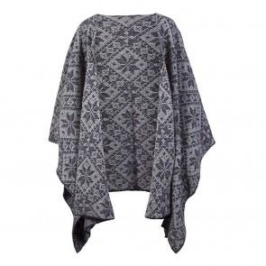 Dale of Norway Rose Shawl Navy / Light charcoal-20