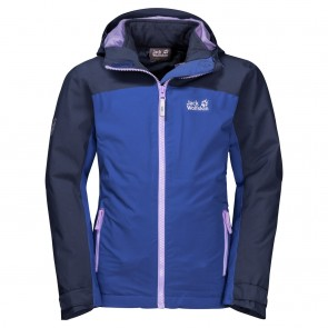 Jack Wolfskin Saana 3In1 Jacket Girls blueberry-20
