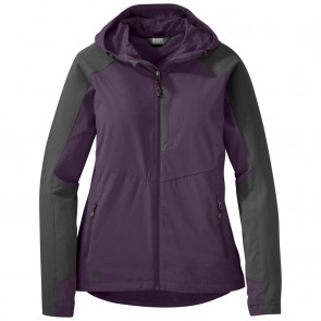 Outdoor Research Women's Ferrosi Hooded Jacket pacific plum/storm-20